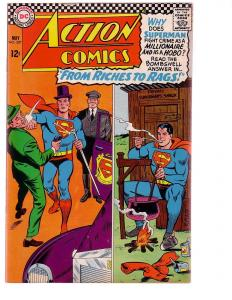 ACTION COMICS #337 1966-SUPERMAN-RICHES TO RAGS---DC FN/VF
