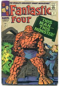 Fantastic Four #51 1966- Marvel Silver Age- Jack Kirby VG
