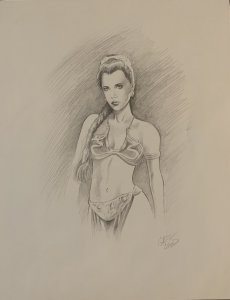 Princess Leia sketch by Greg Land Slave Leia Costume