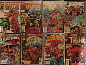 JUGGERNAUT CROSSES OVER IN UNCANNY X-MEN #322,HULK,THOR,SPIDER-MAN.8 BOOK LOT
