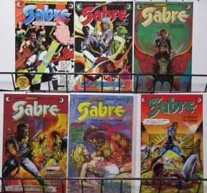 Sabre (Eclipse Comics) #3-8 Hendrix as space Swashbuckler Kent Williams Cvrs