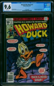 Howard the Duck #12 CGC NM+ 9.6 White Pages