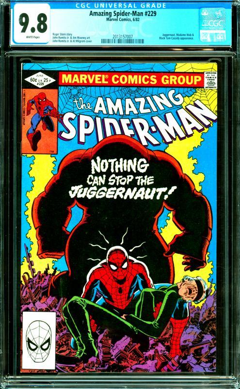 Amazing Spider-Man #229 CGC 9.8 Juggernaut, Madame Web & Black Tom Cassidy App.