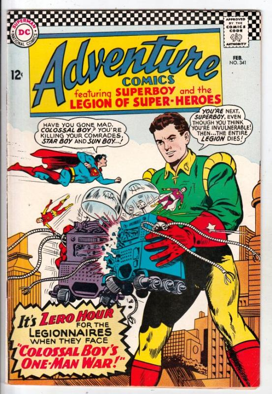 Adventure Comics #341 (Feb-66) NM- High-Grade Legion of Super-Heroes, Superboy