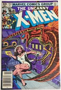 UNCANNY X-MEN#163 VF/NM 1982 NEWSTAND EDITION MARVEL  BRONZE AGE COMICS