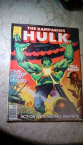 Rampaging Hulk Magazine #1 1977 G+ 2.5 PRICE REDUCTION + FREE FAST SHIPPING