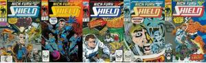 NICK FURY AGENT OF SHIELD (1989) 15-19  Fantastic Four COMICS BOOK