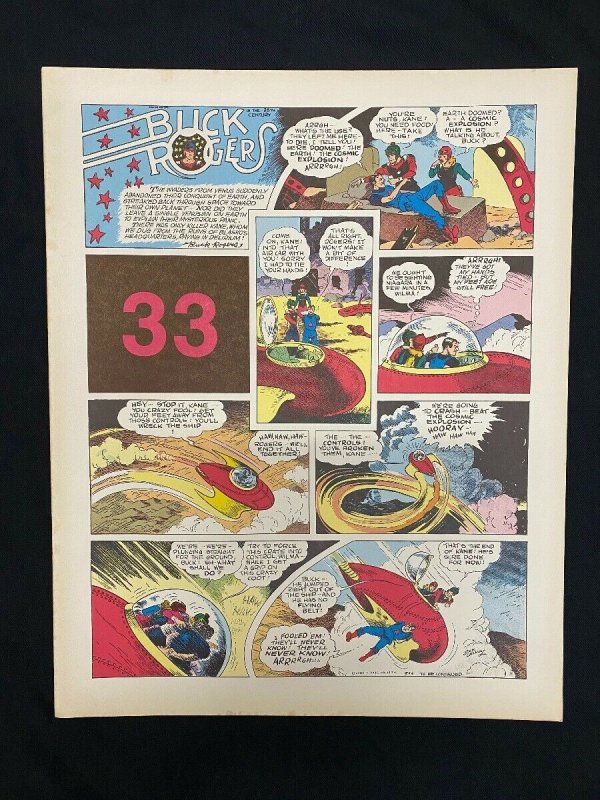 Buck Rogers #33- Sunday pages #385-396- large color reprints