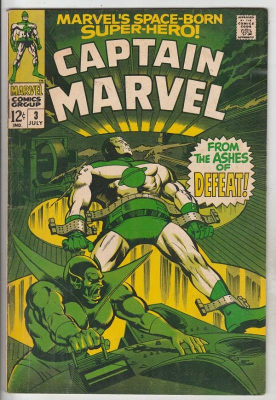Captain Marvel #3 (Jul-68) FN+ Mid-High-Grade Captain Marvel