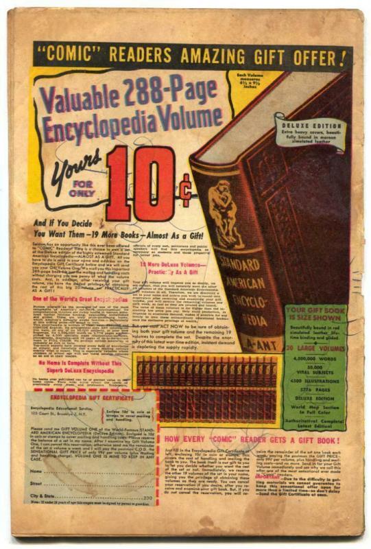 Comedy Comics #24 1944- Super Rabbit Nazi cover G/VG