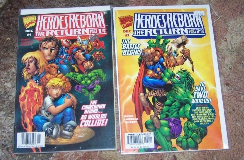 Heroes Reborn The Return 1 2 1997 Marvel Onslaught Ff Hulk Avengers