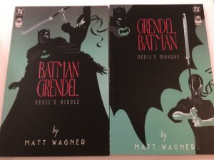 Batman Grendel 1 2 Devils Riddle Devils Masque Near Mint Nm Prestige Dc Comico