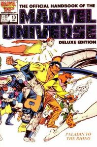 Official Handbook of the Marvel Universe (1985 series) #10, VF+ (Stock photo)