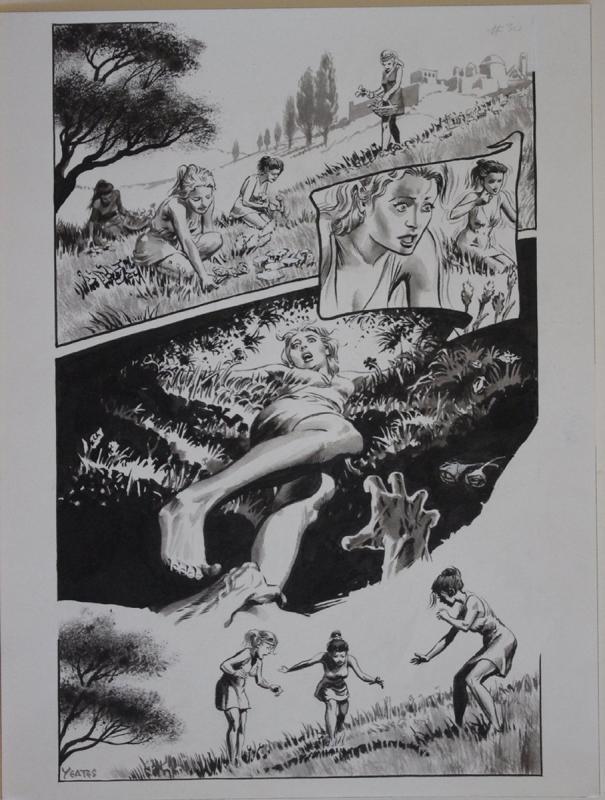 THOMAS YEATES original art, Published, Underworld, 12x 16, Tom, Sign