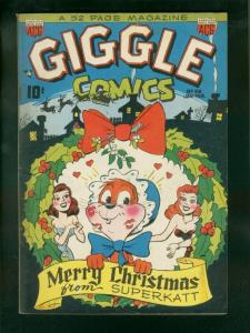 GIGGLE COMICS #69 1950-SUPERKATT-XMAS COVER VG