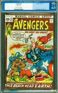 Avengers #93 CGC Graded 7.5