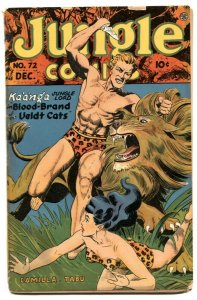 Jungle Comics #72 1945- great lion cover- low grade