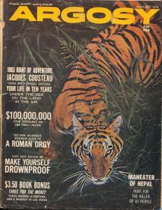 Argosy 8/1963-Popular-Tiger cover-Steeger-pulp thrills-VG