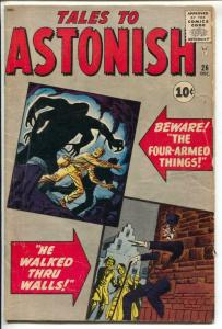Tales To Astonish #26 1961-Marvel-Ditko-Kirby-horror-Stan Lee-VG