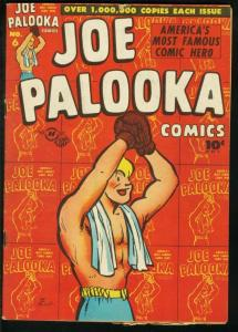 JOE PALOOKA #6 1946-HARVEY-BOXING- WW II B-25 POWELL VG