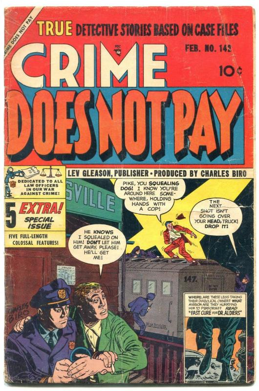 Crime Does Not Pay #142 1955- Last precode issue VG