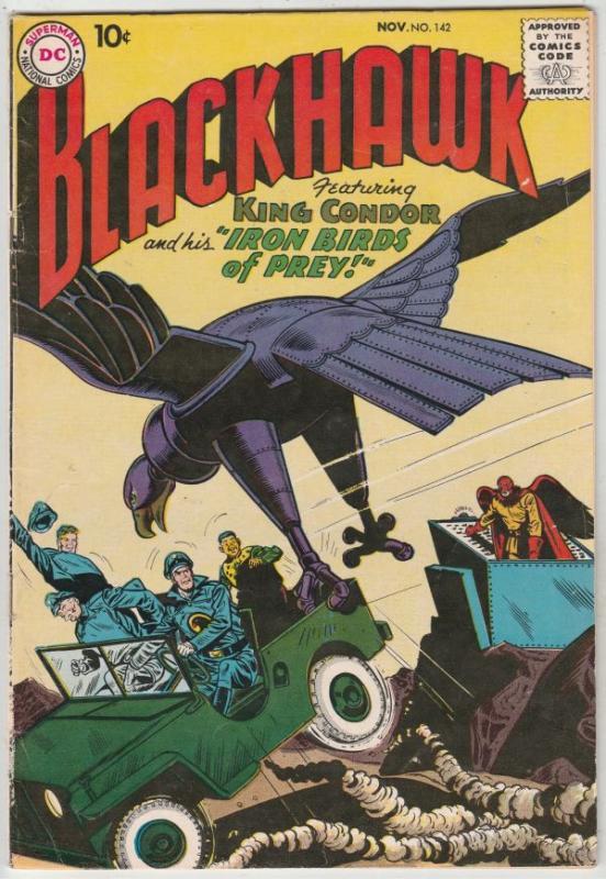 Blackhawk #142 (Nov-59) VF High-Grade Black Hawk, Chop Chop, Olaf, Pierre,Chu...