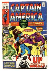 CAPTAIN AMERICA #130  1970-MARVEL COMICS Hulk Comic book