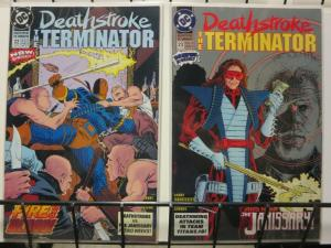 DEATHSTROKE THE TERMINATOR (1991) 22-23  Fire & Blood