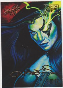 1995 Fleer Ultra Spider-Man Gold Foil Signature #51 Shrek: Chris Hawkes