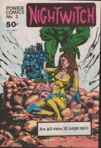 Power Comics NIGHT WITCH #3, VF, Underground, Independent, 1977