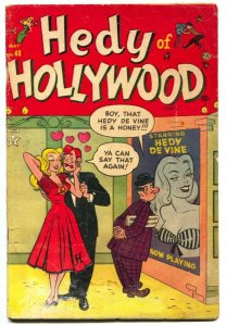 Hedy of Hollywood #48 1952- Spicy good girl art-Sandra the Star g