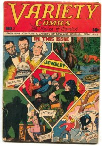 Variety Comics #2 1945- George Washington & Abe Lincoln- Captain Valliant