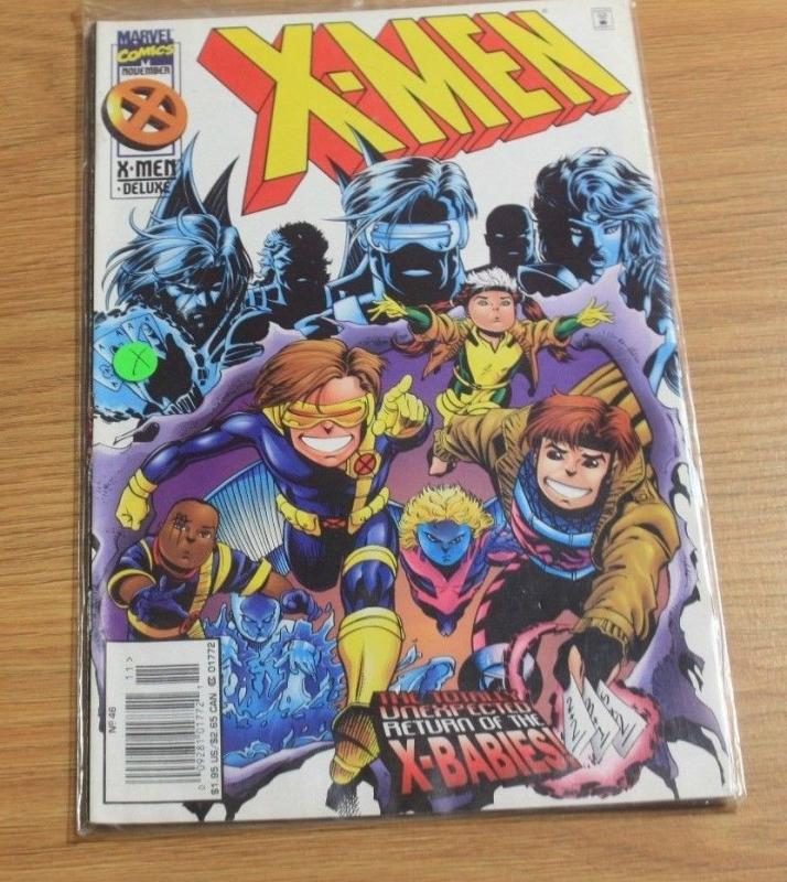 X-Men comic #46 (Nov 1995, Marvel) x babies mojo