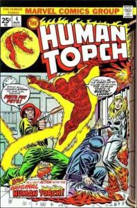 Marvel THE HUMAN TORCH (1974 Series) #4 FN