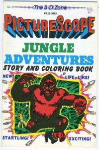 PICTURE SCOPE JUNGLE ADVENTURES #3, VF/NM, 3-D, No glasses,1987, Coloring Book
