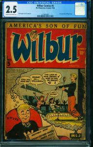 WILBUR #5-CGC 2.5-ARCHIE-1st KATY KEENE-RIVERDALE-1279044007