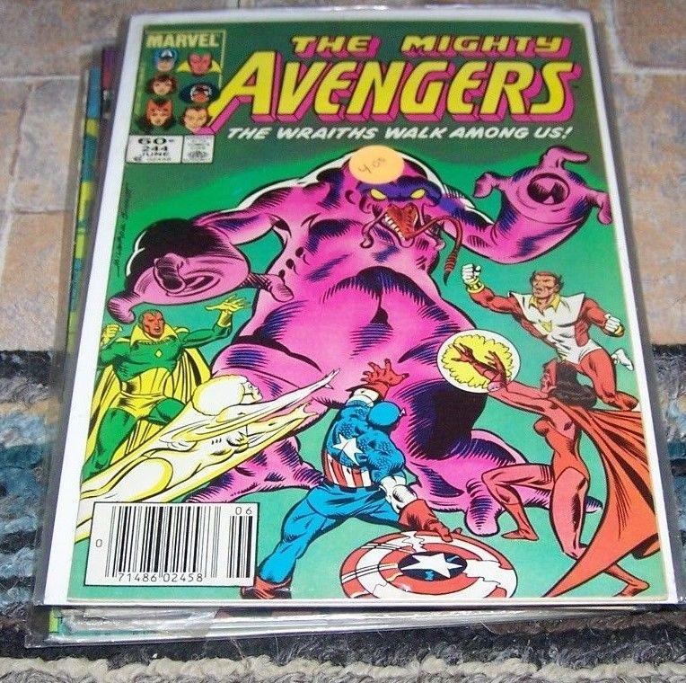 Avengers # 244 (Jun 1984, Marvel) dire wraiths ROM vision captain america