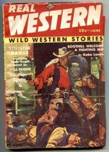 Real Western Pulp June 1939- Sinister Range- Kabe Landor FN