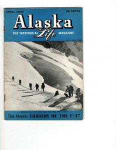 6 Books Alaska The Territorial Life Magazine Monthly Magazine 1944-1945 JK10