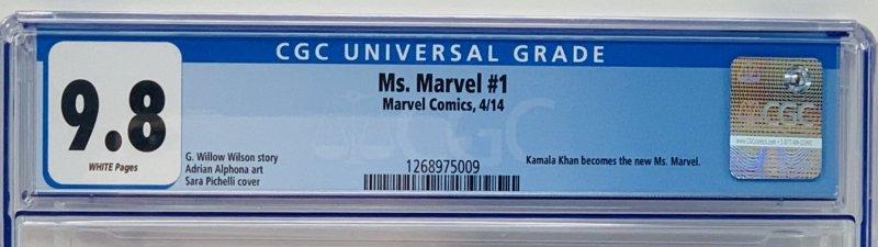 Ms. Marvel #1 CGC 9.8 Marvel 2014. Kamala Khan Becomes the New Ms Marvel