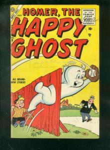 HOMER, THE HAPPY GHOST #9 1956-BASEBALL CVR-DAN DeCARLO VG