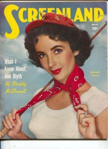 Screen Magazine-Elizabeth Taylor-Ann Blyth-Van Heflin-March-1951