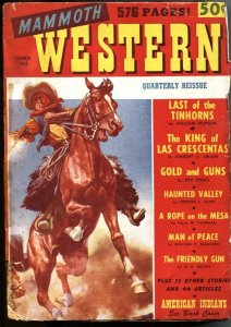 MAMMOTH WESTERN QUARTERLY-FIRST ISSUE PULP-SUMMER-1948-SIOUX INDIAN BACK COVER