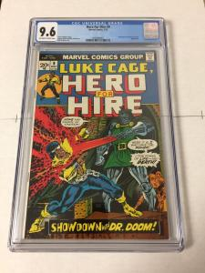 Hero For Hire 9 Cgc 9.6 Ow/w Pages Doom Appearance