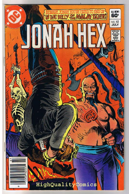 JONAH HEX #62, VF, Malay Tiger, Dick Ayers, 1977, more JH in store