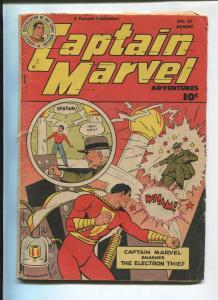 CAPTAIN MARVEL ADVENTURES #87 1948-ELECTRON THIEF-G-