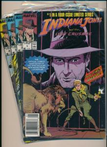 Marvel Comics Set of 4-INDIANA JONES 4-ISSUE LIMITED SERIES #1-4 F/VF (PF603)