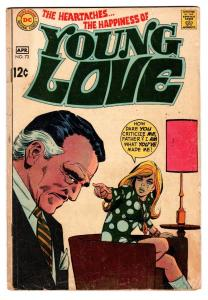 YOUNG LOVE #73 comic book 1969-DC ROMANCE-Alex Toth vg
