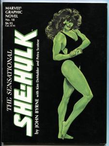 Marvel Graphic Novel #18-Sensational She-Hulk comic magazine