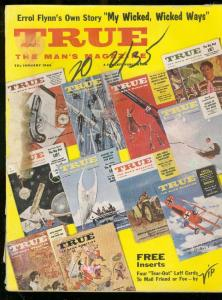 TRUE PULP MAG-JAN 1960-VIP INSERT CARDS-DORNE WW II ART G
